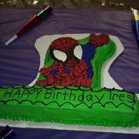 Spiderman This was my second cake.