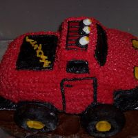 3-D Truck Cake I made this cake for my cousins 15 th birthday. She wants a red truck for her when she gets her license so this was perfect. This was my...