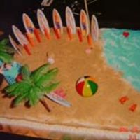 Beach Cake Made this for my niece. She wanted a beach theme. So this is what I came up with.