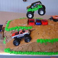 Monster Truck Cake   Monster truck cake made for my son's 6th birthday