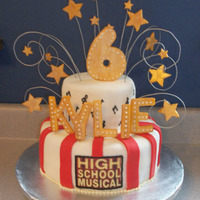 High School Musical Thanks so much to fiasmama for the inspiration for this cake! Of course mine isn't the same as hers but I tried!!