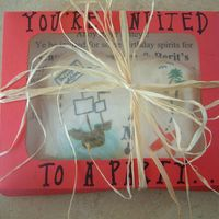 Pirate Cookies This is how I packaged the treasure map cookies for the invitations. The message was written inside the box.... We love CC!!!