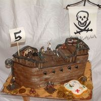 Pirate Cake This was my first time doing a carved cake and using fondant a big thanks to karateka,alanahodgson for directions and karensue for her...