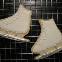 Ice Skate Cookies Made these ice skate cookies for my daughter's birthday party at the ice rink.