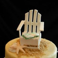 Beach Retirement Cake