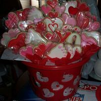 Valentine Hearts & Feet Made this basket for my son's podiatrist and staff. Big hit !!