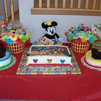 Mickey Mouse Birthday Made this for a little girl's 2nd birthday party. A lot of work, but so much fun !!