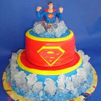 Superman Birthday Cake A Superman cake for a 6 yr. old who wanted the Superman on the Planet of Tranquility? Come to find out that was the planet of ice! Hence...