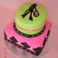 Snooty Shopping Girl Birthday Cake! I made this cake for a girlfriend's mom who is a big time shopaholic! She wanted something snooty and over the top for her mom. She...