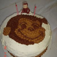 Curious George Made this for my son's 2nd bday... cute Curious George face