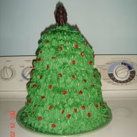 Christmas Tree It was my first time trying out to make into a tree... small 3 tiers cake