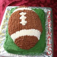 Superbowl Football 2009 Made this for a superbowl party... used the football shaped pan