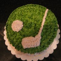Golf Cake I made this for my dad as he loves golfing... everything is bc