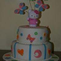 Hello Kitty Second Hello Kitty cake for my nice. She took it in the Kindergarten and all the girls loved it.