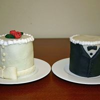Bride & Groom Cakes
