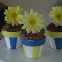 Mini Flower Pot Cupcakes mini flower pot cupcakes