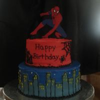 Spiderman   of course inspiration from cc. frosted in bc w/fondant and ri accents.