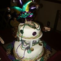 Mardigras Cake I donated this cake to the Lewisburg, Tn. Junior Auxiliary Ball dance.