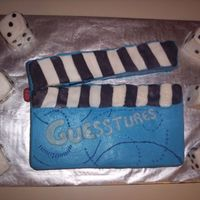Game Night   Buttercream with some fondant accents. WASC cake. The ladies loved it. Thanks so much for this recipe.
