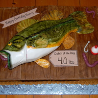 3D Bass Cake My friend and I made this together for a guy's 40th birthday. Thanks to all the great Bass cake pictures on CC that helped give us our...