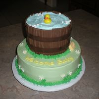 Washtub Baby Shower Cake This was my first time doing a washtub cake, it was a lot of fun to try something new. Thanks to all the great washtub cakes on CC that...