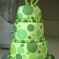 Green Sweet Sixteen My niece helped me make this cake for her best friend's surprise Sweet 16 party. We were originally going to do the dot/harlequin/...
