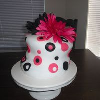 Black And Pink Curvy Cake