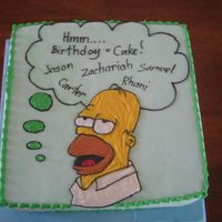 Homer Cake This cake was for a family who celebrate birthdays quarterly. There were 5 of them celebrating this time
