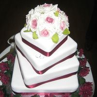 Ashley And Matts Wedding Cake  The bride wanted something simple and elegant. The cake I thought was going to be a disaster as it was my first 'wedding cake'. I...