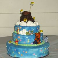 Baby Pooh Shower Cake This cake was a mixture of cake my cousin saw on Cakecentral, not sure who had the cakes, but this is what we came up with. Vannila Bean...