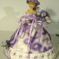 Purple Rose Doll Cake this was the other cake i made, i have just gotten a phone call saying how much everyone is talking about the cakes. i am so excited, it...