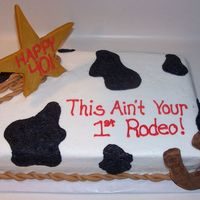 Cowgirl Birthday  This cake was so fun to make! It was a chocolate cake with buttercream. The star is peanut butter candy pieces that I melted down, added...