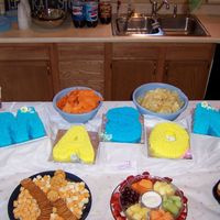 Mason My nephew's baby shower cake