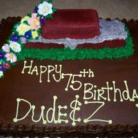 Brick Cake This cake was made for a friend. Her grandfather was a retired brick layer and her grandmother was a gardener. It was there 75th birthday...