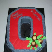Block O This cake was for a Dr. that is a huge OSU Fan