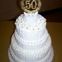 50Th This was my first stacked cake