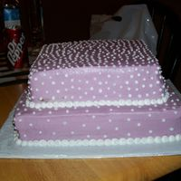 Wedding Shower Cake This cake was matched to a customers napkin color