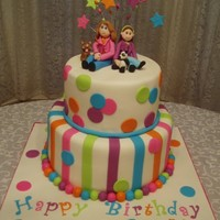 Maddie And Sophie's Birthday Cake