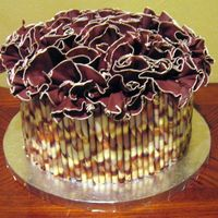 Triple Chocolate Ruffle Cake Made this cake for my brother who LOVES anything chocolate. The cake is Triple chocolate fudge cake with chocolate buttercream icing and...