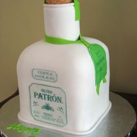 Silver Patron Tequila Bottle This is a birthday cake for a gal who loves Silver Patron.