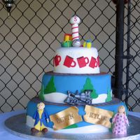 Polar Express Twins Birthday Cake This was for twins, a boy and girl's, 5th birthday party. The theme was Polar Express.