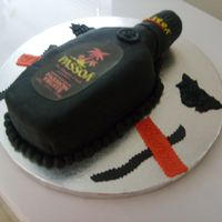 Pasoa Bottle Birthday Cake   MMF, label was a print image