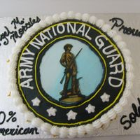 Army National Guard Graduation Cake   For my son who serves the Country as well as his sister. We are really proud of them. God Bless them! God Bless the World!