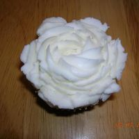 White Rose Cupcake White cupcake with white vanilla BC using the 1M tip. I was surprised how easily it made such a pretty design. I will definitely use it...