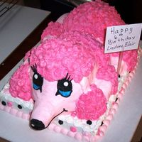 Poodle Cake This is my first attempt at making a 3D poodle. It's not the best, but my granddaughter loved it for her poodle party.