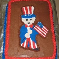 Uncle Sam   I borrowed this idea from Meagan on CC (Thanks). This is my first FBCT (notice the missing foot) Made for a neighboorhood BBQ.