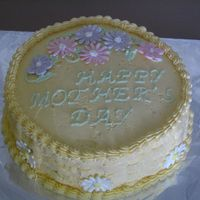 Mothers Day lemon cake with buttercream icing made for mother in law