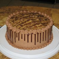 Chocolate Drizzle I made this for my FIL's birthday. German chocolate is his favorite.