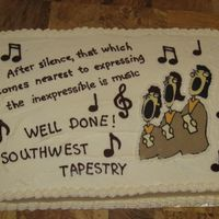 Singing Group   I did this cake for a client who's in a singing group. I borrowed ideas off CC. Thanks everyone!