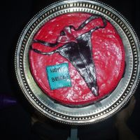 G-String For My Dh Birthday !   It was a vanilla cake with cajeta, with fondant... g-string also made of fonant